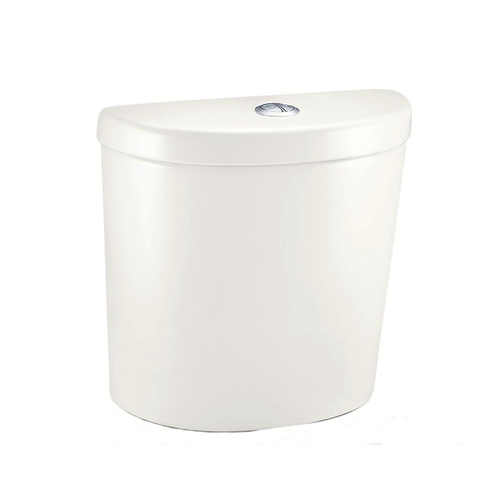 Glacier Bay Concealed Trapway 1.1 GPF/1.6 GPF Dual Flush Toilet Tank Only in Biscuit