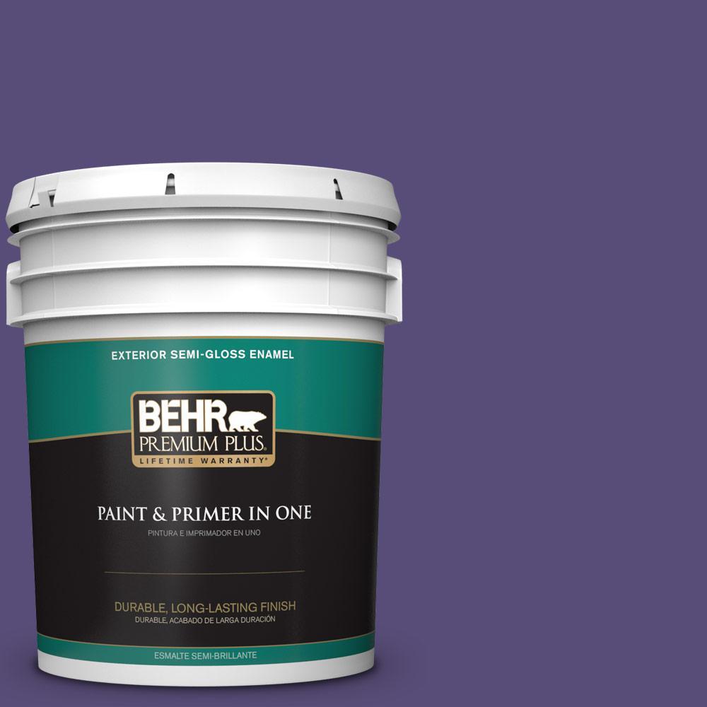 5 gal. #MQ5-42 Perpetual Purple Semi-Gloss Enamel Exterior Paint and Primer