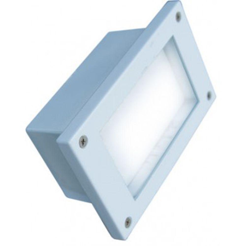 Ashler 48-Light White Outdoor LED Recessed Step Light