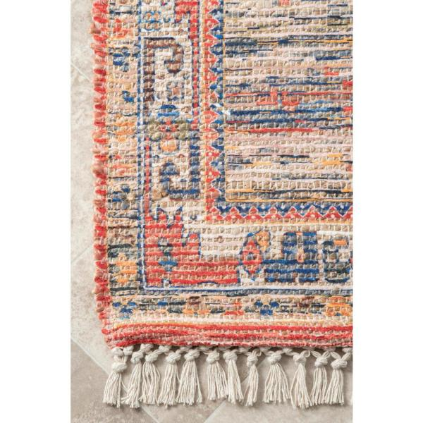 Nuloom Vintage Flatweave Yetta Multi 3 Ft X 5 Ft Area Rug Svin22a 305 The Home Depot