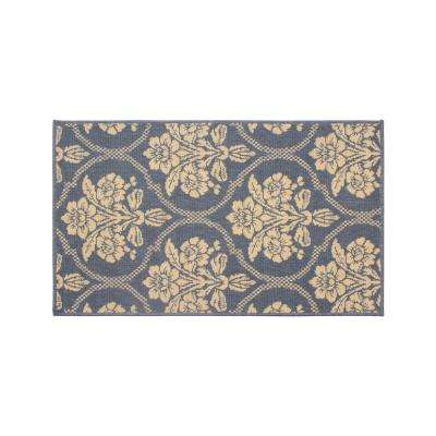 Tatton in Chain Navy 4 ft. x 2 ft. Indoor/Outdoor Area Rug