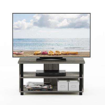Sully French Oak Gray/Black 3-Tier TV Stand for TV up to 40 in.