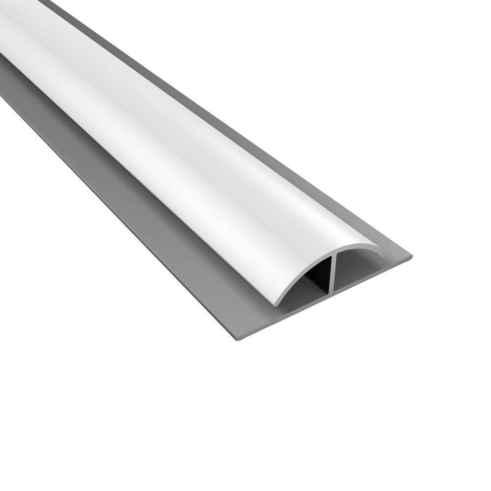 Fasade 4 ft. Gloss White Divider Trim 161-00
