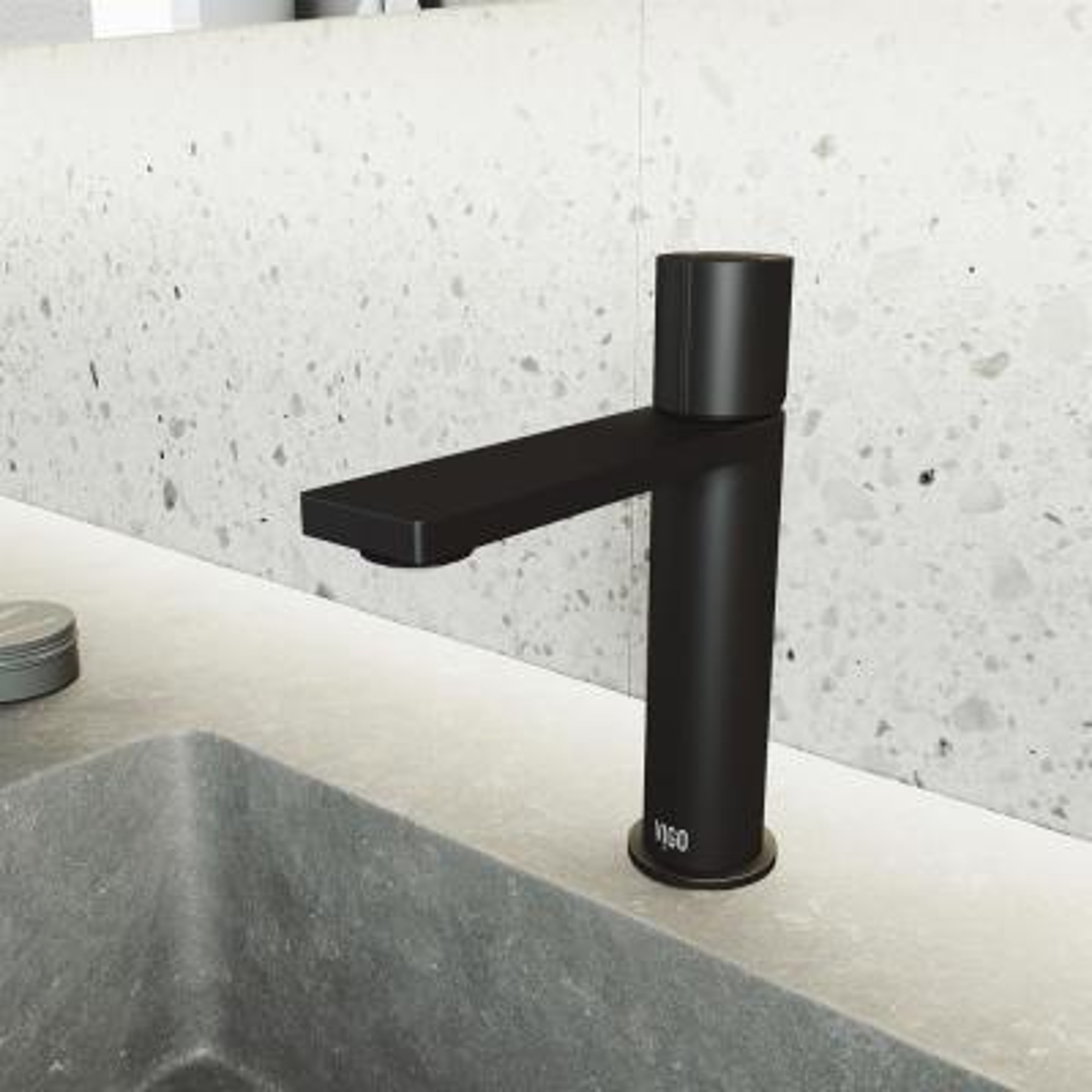 Halsey Single Hole Single-Handle Bathroom Faucet in Matte Black