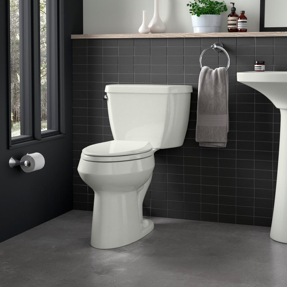 Enjoyable Kohler Grip Tight Cachet Elongated Closed Front Toilet Seat In Dune Pdpeps Interior Chair Design Pdpepsorg