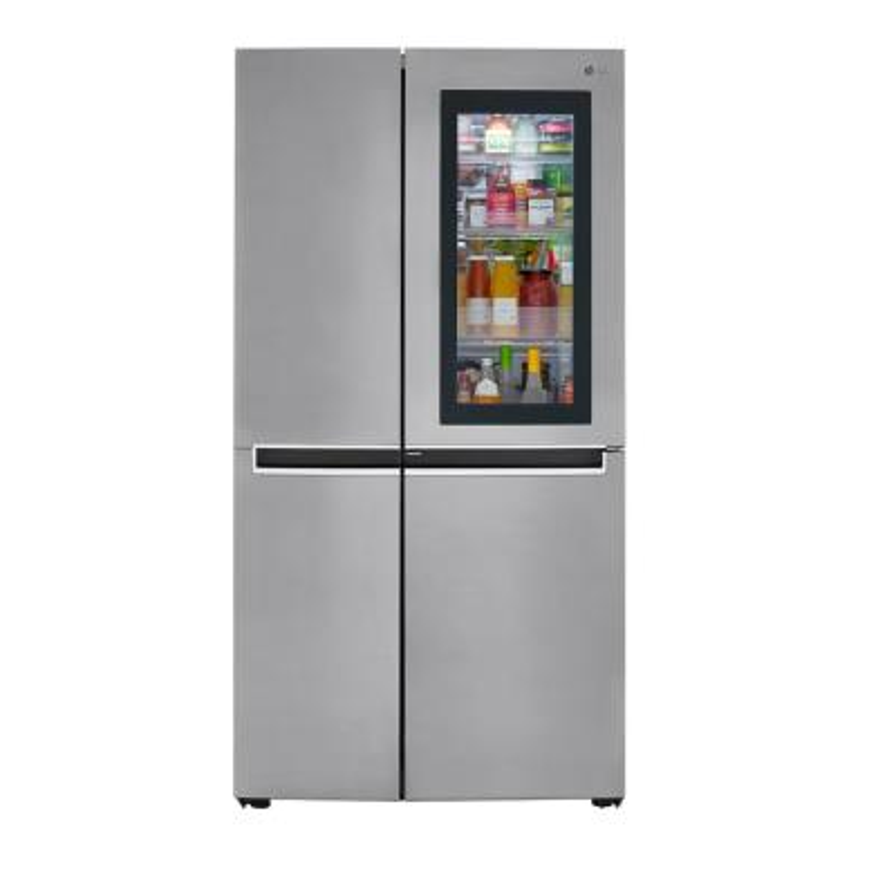 26.8 cu. ft. Side by Side Refrigerator with InstaView Door-in-Door, Non-Dispenser with Pocket Handles in Platinum Silver