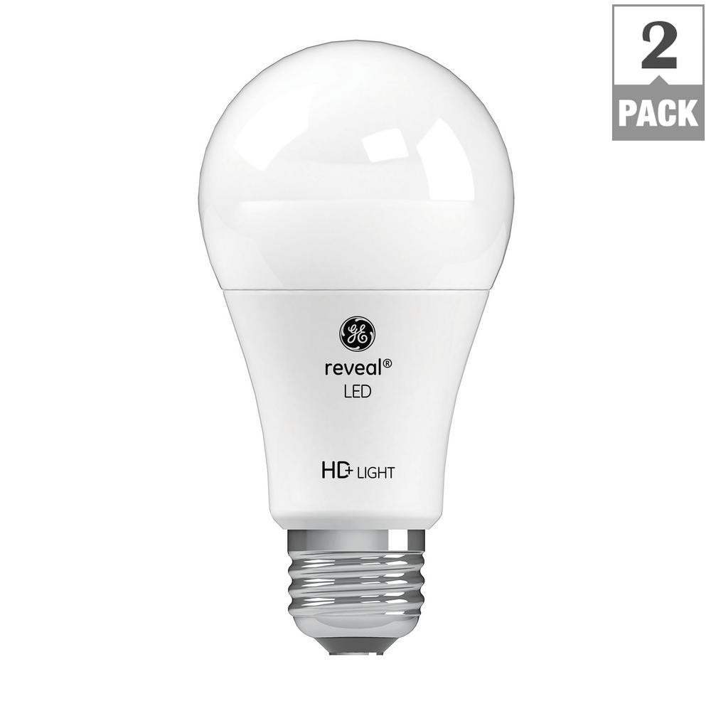 Ge 40w Equivalent Reveal A19 Dimmable Led Light Bulb: GE 60W Equivalent Reveal (2,850K) High Definition A19