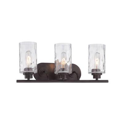 Gramercy Park 3-Light Old English Bronze Interior Incandescent Bath Vanity Light