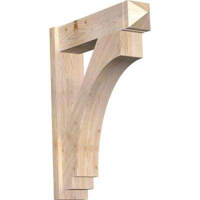 8 in. x 38 in. x 30 in. Douglas Fir Imperial Arts and Crafts Smooth Outlooker