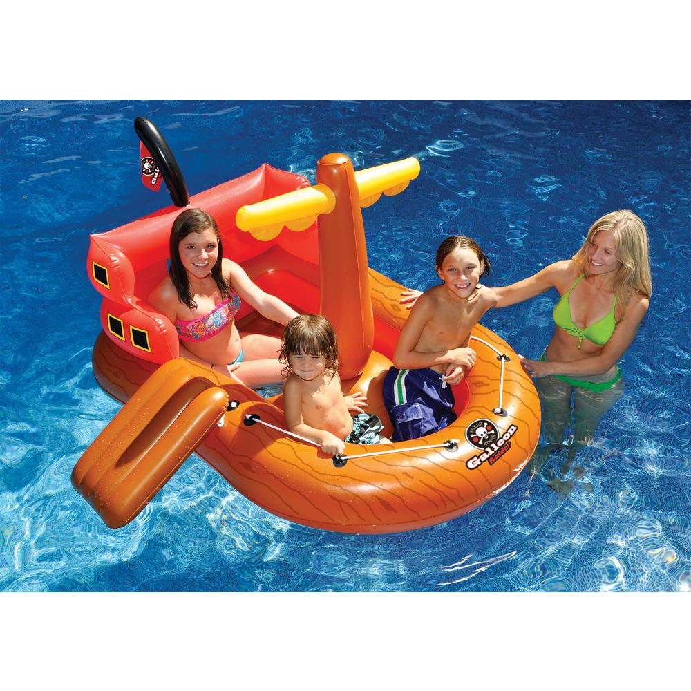 Swimline Galleon Raider Inflatable Pool Float-90945 - The Home Depot