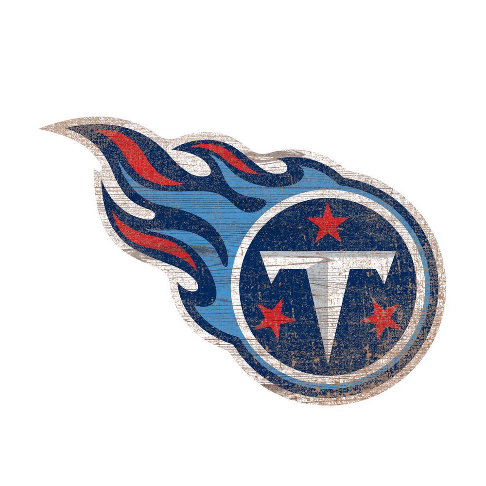 e98925e62 Adventure Furniture NFL Indoor Tennessee Titans Distressed Logo Cutout Wood  Sign