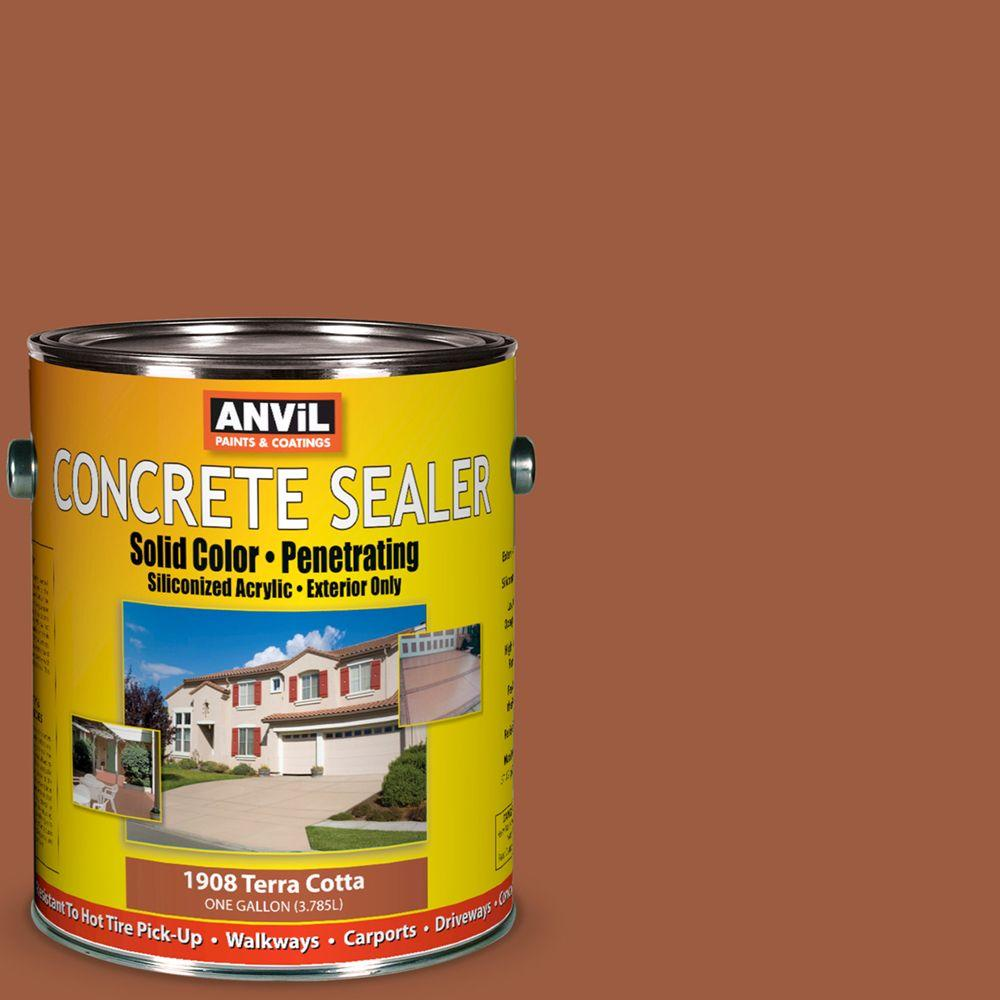 ANViL 1-gal. Terra Cotta Siliconized Acrylic Solid Color Exterior Concrete Sealer-DISCONTINUED
