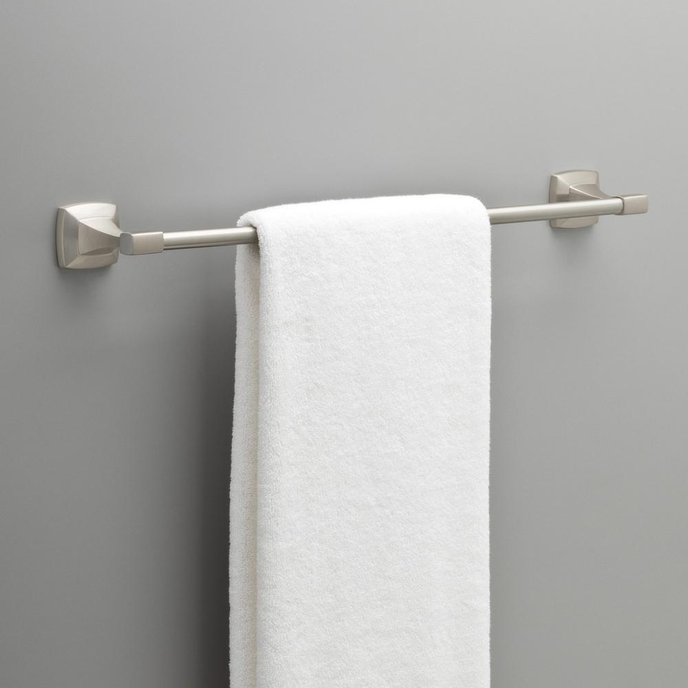 Portwood 24 in. Towel Bar in SpotShield Brushed Nickel