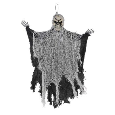 24 in. Black Halloween Hanging Reaper (6-Pack)