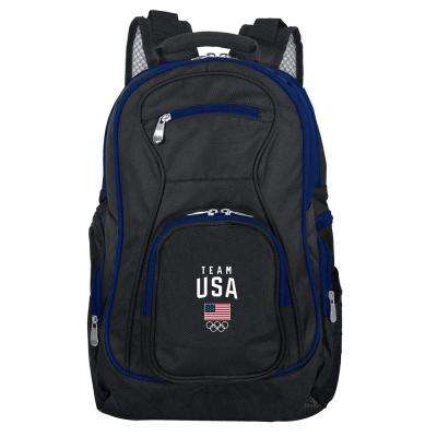 BlackOlympics Team USA Olympics Trim color 19 in. Black Laptop Backpack