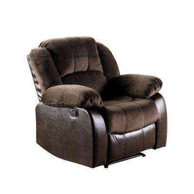 Barton Brown Champion and  Leatherette Recliner Chair