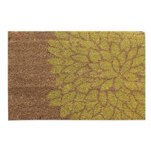 A1HC First Impression Layla Flower 18 inch x 30 inch Coir Door Mat by