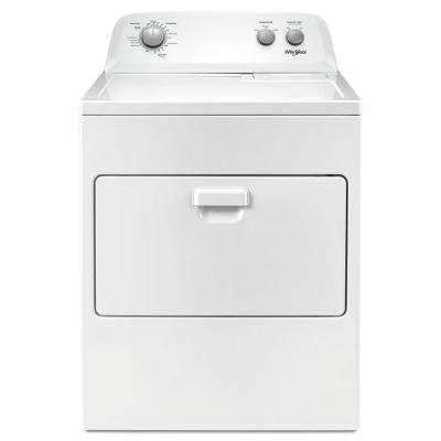 240 volt white electric vented dryer with autodry drying system