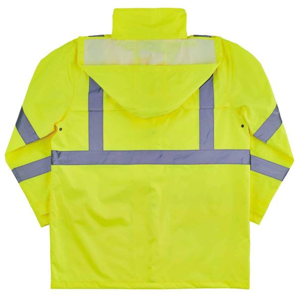 Reviews For Ergodyne Glowear 8366 3xl Lime Lightweight Hi Vis Rain Jacket Type R Class 3 8366 The Home Depot