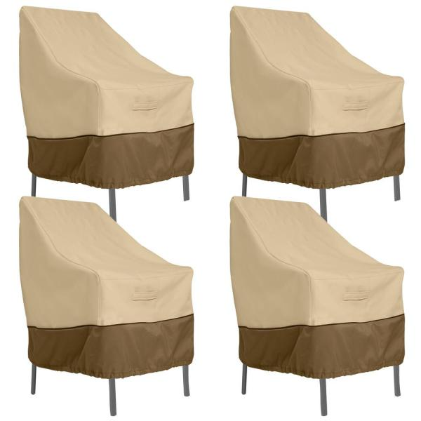 Veranda High Back Dining Patio Chair Cover (4-Pack)