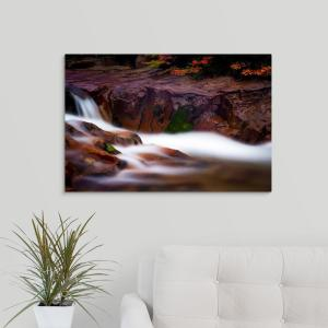 """""""Silky Water and Fall Colors, Patagonia, Argentina"""" by Joseph Roybal Canvas Wall Art"""