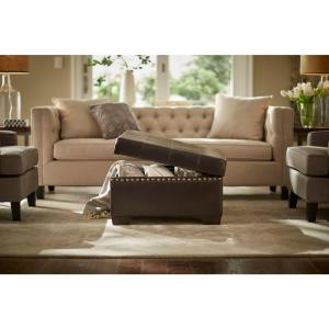 Ave Six Detour Espresso Storage Ottoman by Ave Six