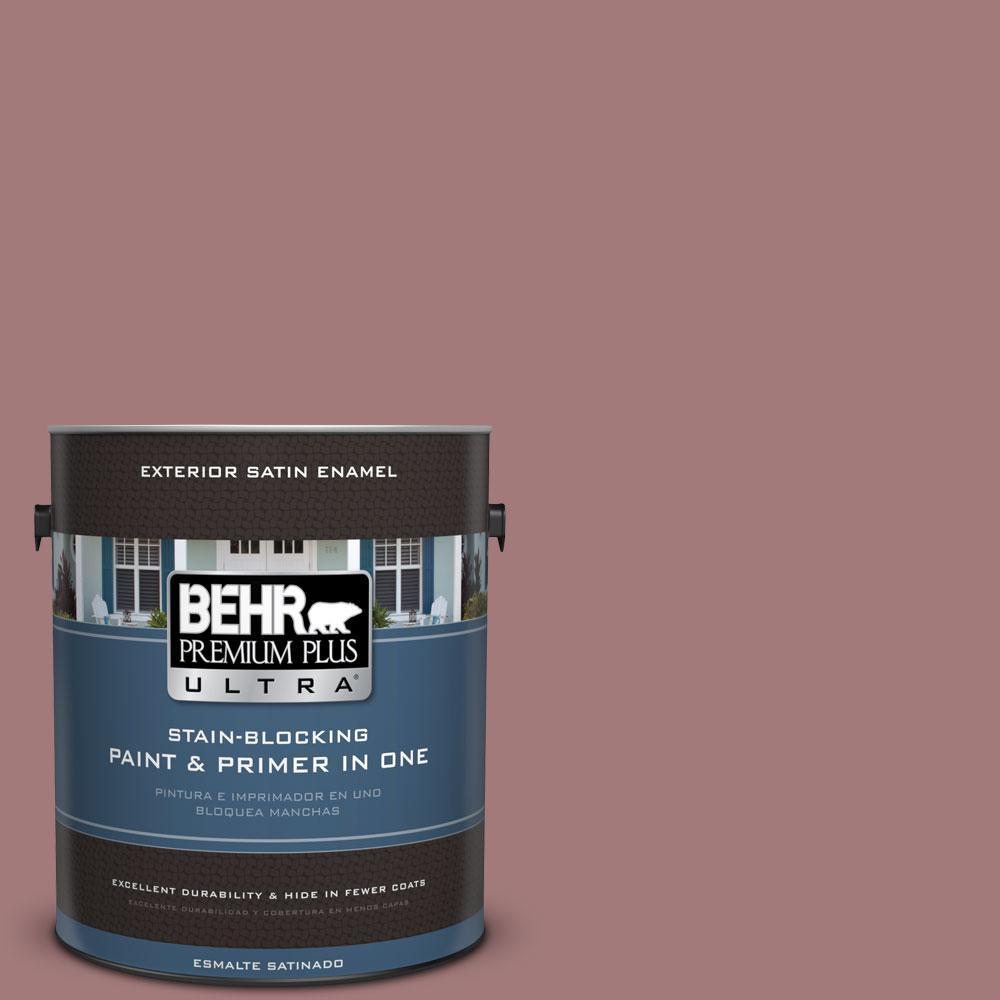 BEHR Premium Plus Ultra 1-gal. #ICC-108 Brandied Apple Satin Enamel Exterior Paint