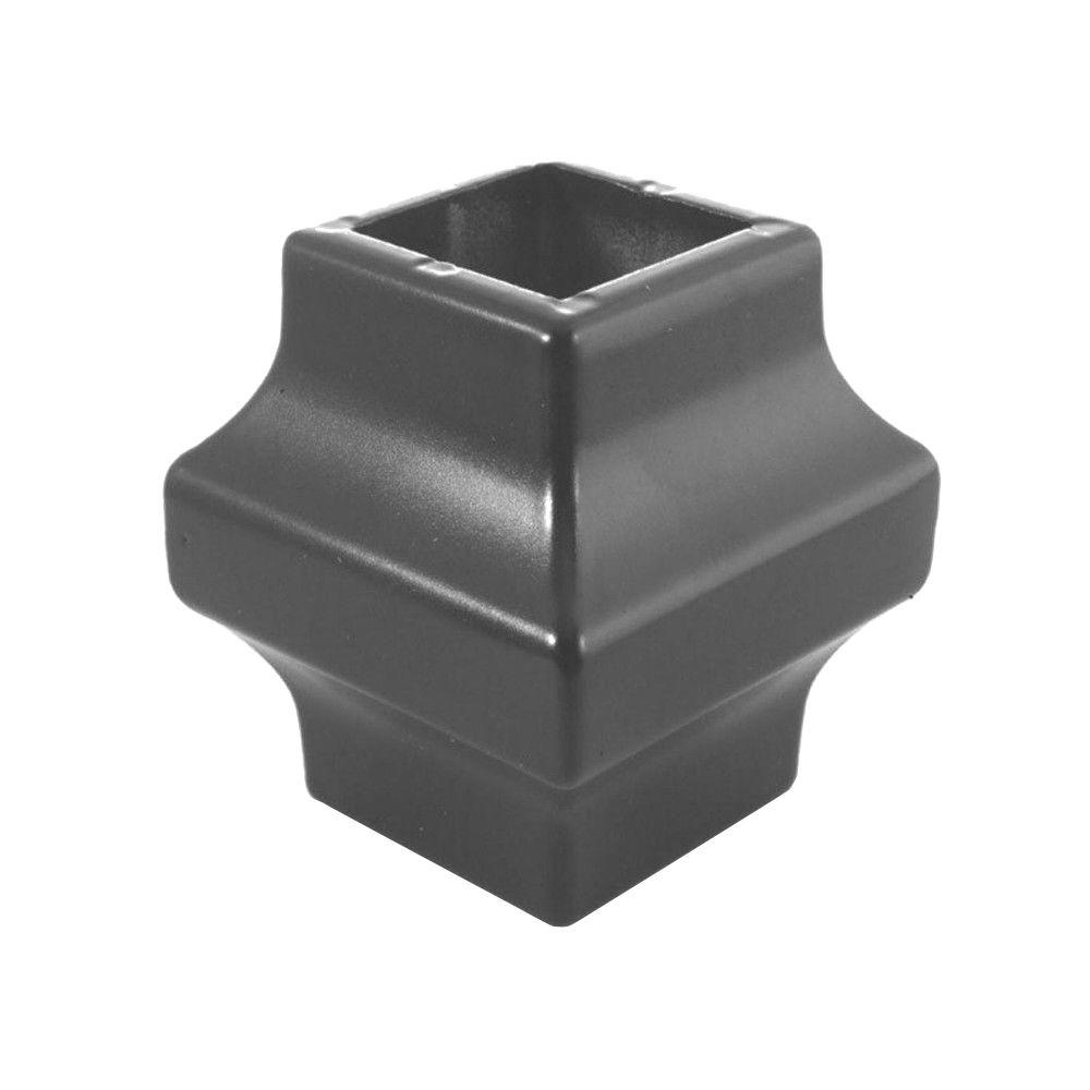 Pegatha 3/4 in. Charcoal Aluminum Square Baluster Collar