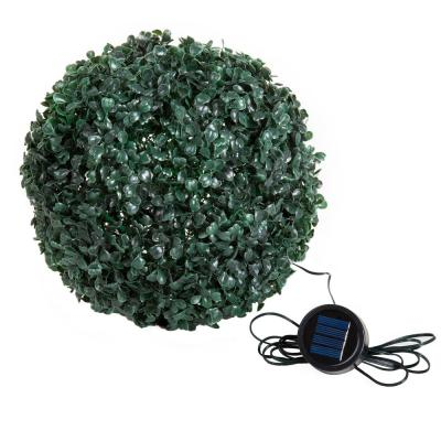 11 in. Topiary Solar White LED Lighted Ball