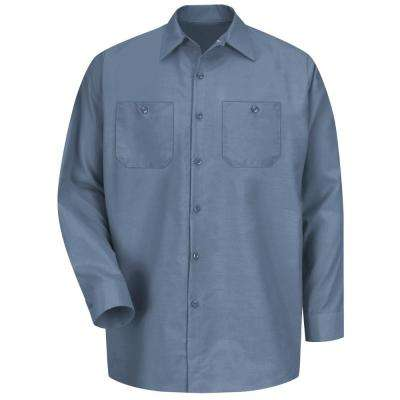 Men's Size 3XL (Tall) Postman Blue Long-Sleeve Work Shirt