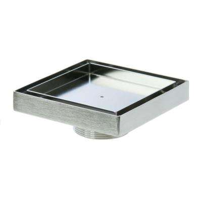 5 in. x 5 in. Stainless Steel 2 in. Male NPT Square Tile Insert Drain Cover