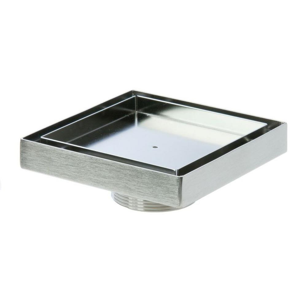 Luxe 5 in. x 5 in. Stainless Steel 2 in. Male NPT Square Tile Insert Drain Cover