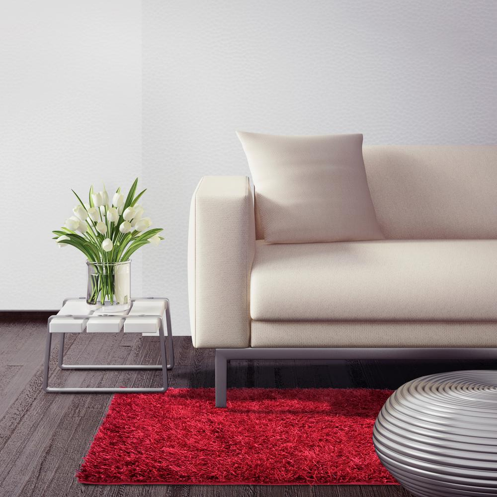 City Sheen Red 4 ft. x 7 ft. Area Rug
