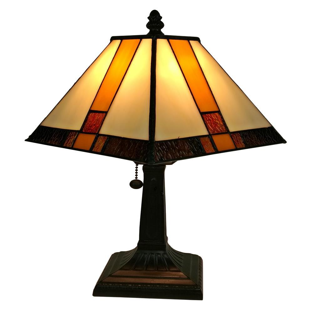 Charmant Tiffany Style Multicolored Mission Table Lamp
