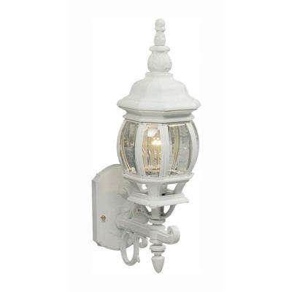 Sergej 1-Light White Outdoor Wall Lantern