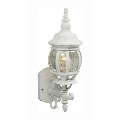 Sergej 1-Light White Outdoor Wall Lantern Sconce
