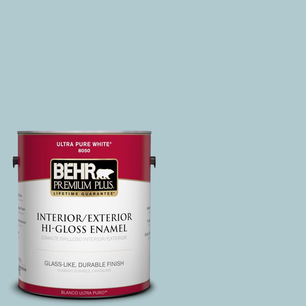 1-gal. #HDC-SM14-8 Floating Blue Hi-Gloss Enamel Interior/Exterior Paint