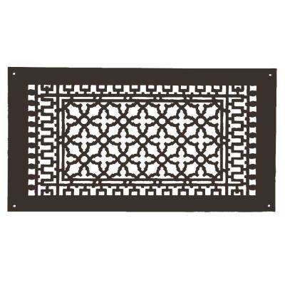 Scroll Series 24 in. x 12 in. Aluminum Grille, Oil Rubbed Bronze with Mounting Holes
