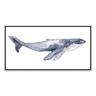 """Humpback Whale Youth"" by Lot26 Studio Framed Printed Canvas Wall Art"