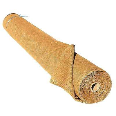 ValueVeil 4 ft. x 50 ft. Wheat/Beige Privacy Fence Screen Netting with Reinforced Grommets