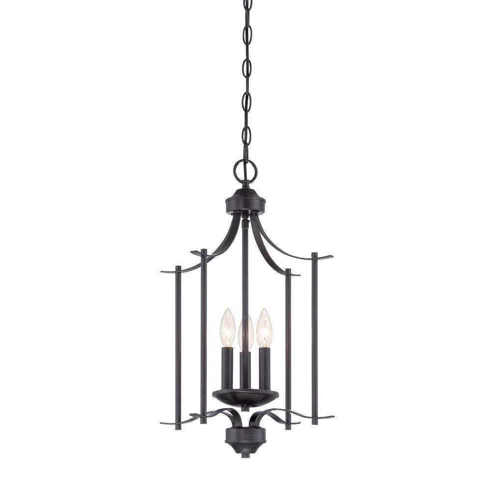 Designers fountain cassina 3 light biscayne bronze foyer for Cassina lighting