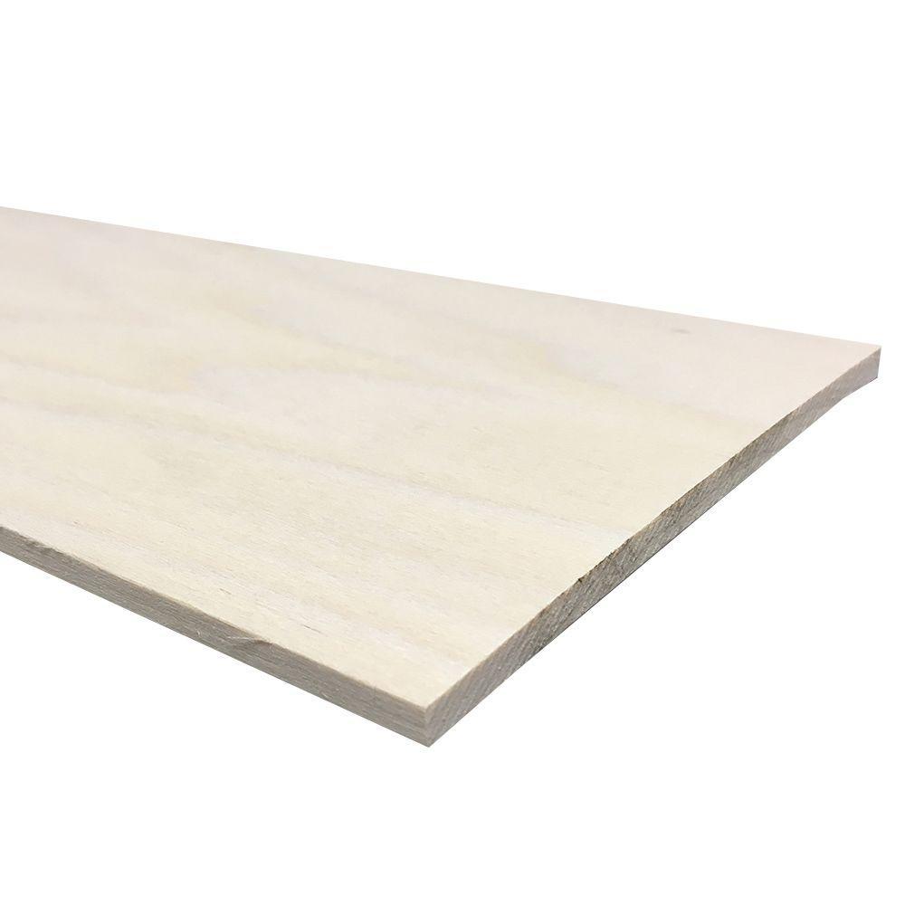1/4 in. x 6 in. x 4 ft. Hobby Board Kiln Dried S4S Poplar Board (20-Piece)