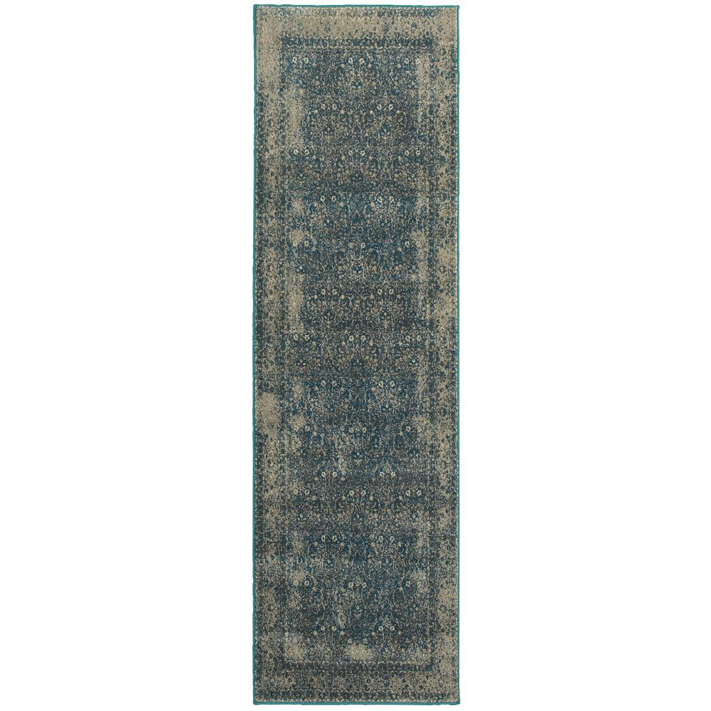 Home Decorators Collection Cavalier Grey/Teal 2 Ft. 3 In
