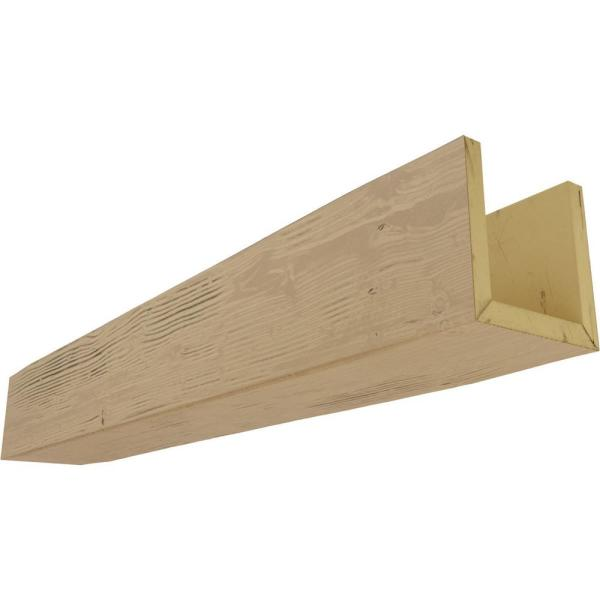 Ekena Millwork 6 In X 8 In X 10 Ft 3 Sided U Beam Riverwood Natural Pine Faux Wood Beam Bmrw3c0080x060x120pp The Home Depot