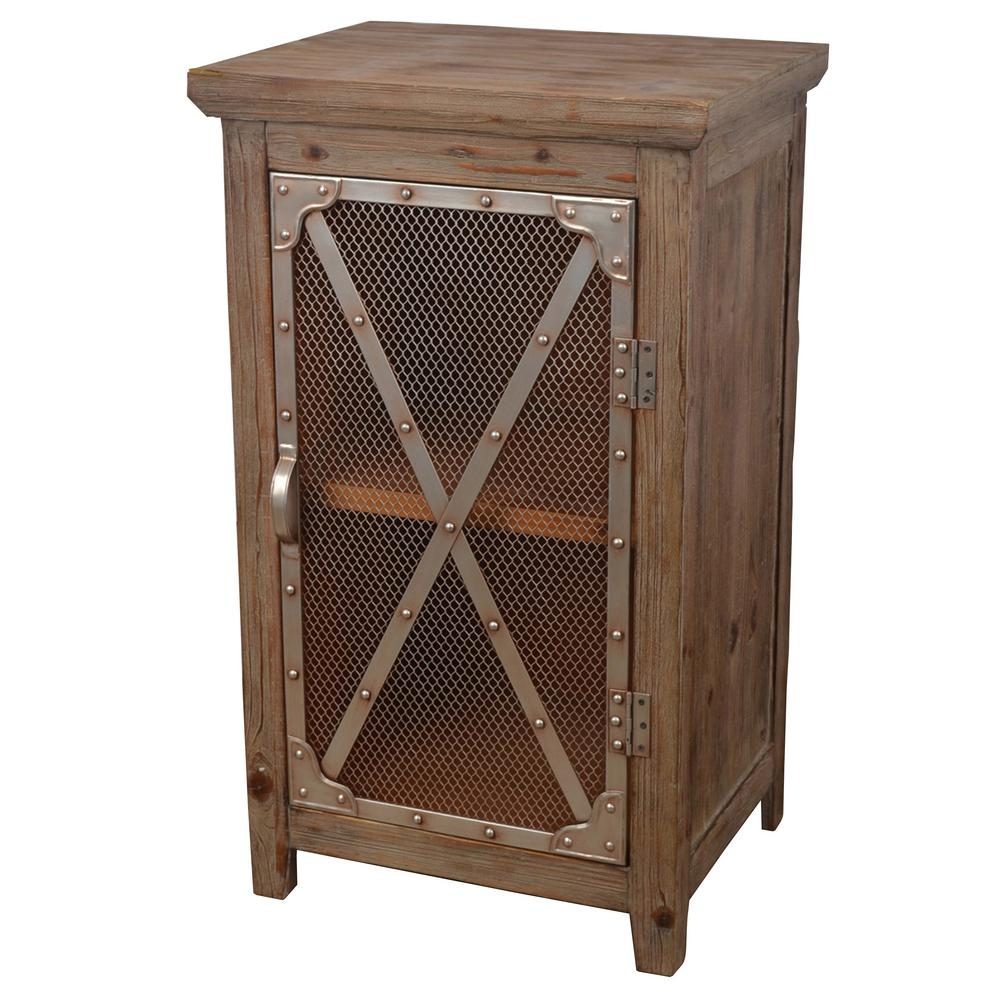 Ordinaire Decor Therapy Chicken Wire Brown End Table