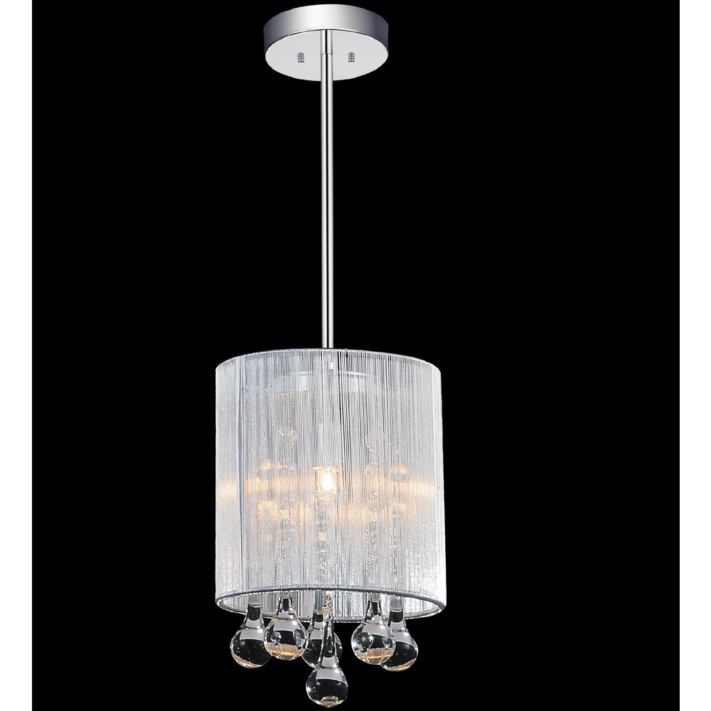 Pendant Drop Tips For Incorporating Pendant Lights Into A: Crystal World Inc. Water Drop 1-Light Chrome Pendant