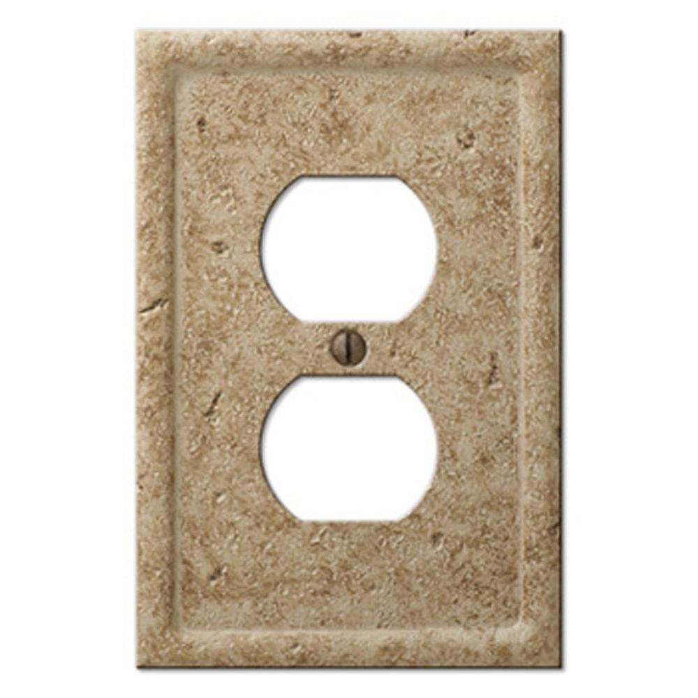 Texture Stone 1 Duplex Wall Plate - Noche