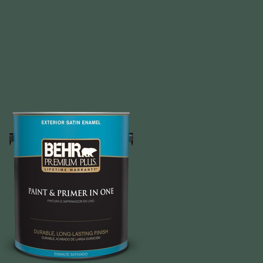 1-gal. #BXC-33 Jolly Green Satin Enamel Exterior Paint