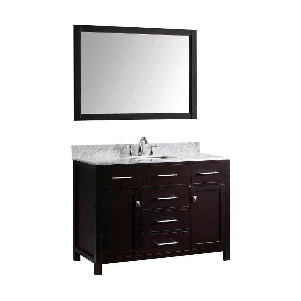 Virtu USA Caroline 49 in. W Bath Vanity in Espresso with ...