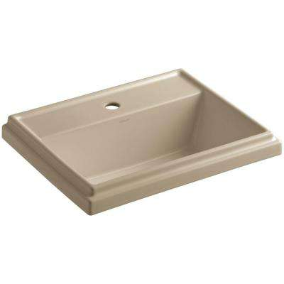 Tresham Drop-in Vitreous China Bathroom Sink in Mexican Sand with Overflow Drain